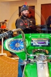 "Jamestown Individuals mc President Ry Walch and his greet ""StreetKing"" custom bagger."